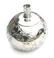 Olie Lampe I Keramik - Sølv Eller Sort