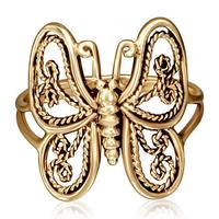 Butterfly bronze ring