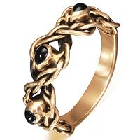 Teardrop Twist Bronze Ring