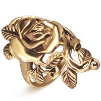 Rose fingerring i bronze