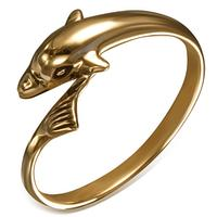 Delfin Fingerring I Bronze