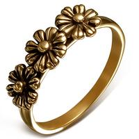Triple Flower Bronze Fingerring