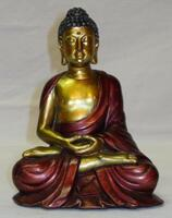 Red & Gold Buddha / 15cm