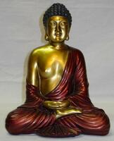 Red & Gold Buddha / 20cm