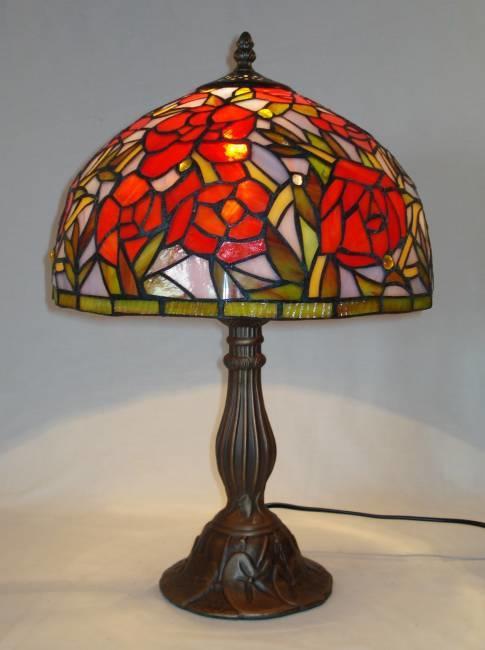art deco lampe i glasmosaik bordlampe tiffany art nouveau. Black Bedroom Furniture Sets. Home Design Ideas