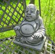 Lille Happy Buddha Skulptur Til Haven