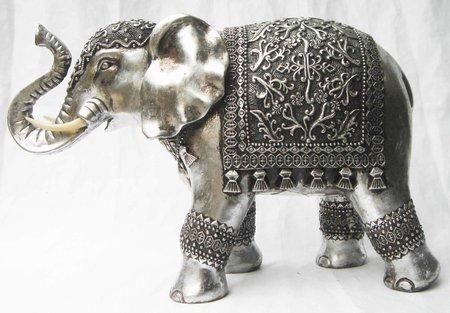 elefanter i s lv resin k b s lvelefant figur i s lvfinish. Black Bedroom Furniture Sets. Home Design Ideas